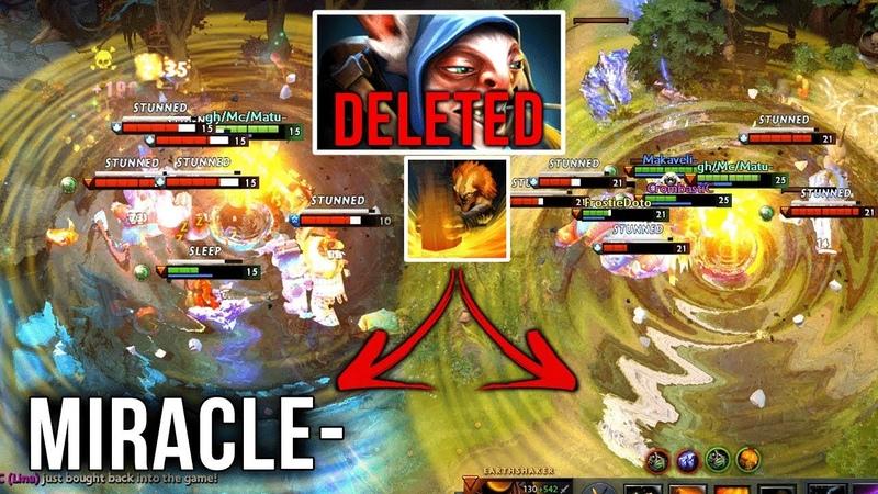 Miracle IMBA Earthshaker - Meepo got Deleted from Game - EPIC Echoslam Refresher Combo - Dota 2