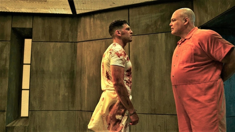 Сорвиголова 2x09 Уилсон Фиск против Карателя в тюрьме
