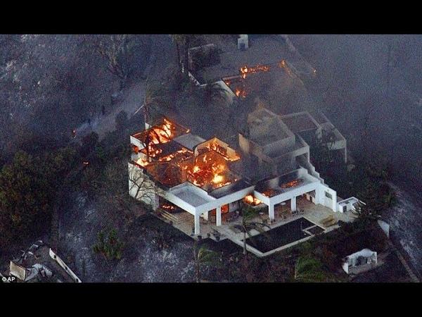 Странные точечные пожары в Калифорнии