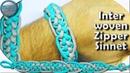 How to Make a Paracord Bracelet the Interwoven Zipper Sinnet by TIAT DIY Paracord Tutorial