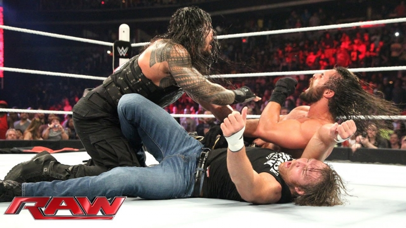 Dean Ambrose and Roman Reigns vs Seth Rollins and Kane (29.06.15)