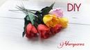 Простые Тюльпаны из фоамирана на 8 марта/Мастер класс / Канзаши / DIY Ianina Voropaeva