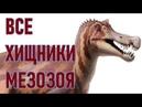 Все ХИЩНЫЕ ДИНОЗАВРЫ: Классификация динозавров (Часть 1)