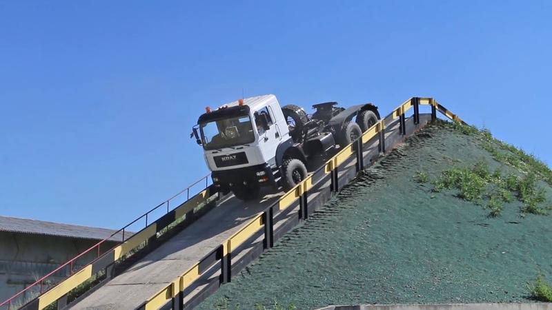 Тягач КрАЗ 6510TE Випробування на полігоні
