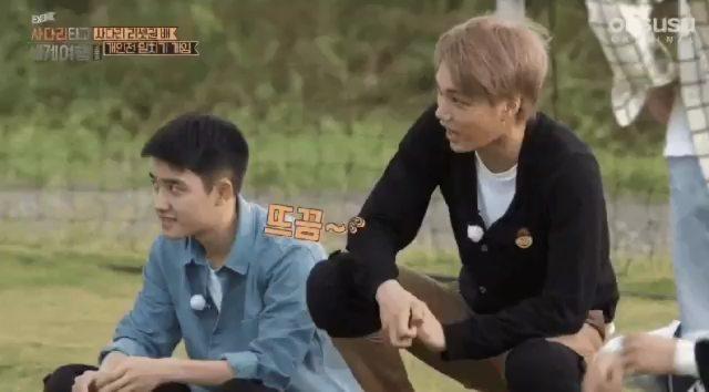 """KaiSoo Turkey Fan Page🇹🇷 on Instagram: """"Jongin Kyungsoo'ya bakarken neden ona bakacağını hissettiğinde gözlerini kaçırıyor merak ediyorum😂😂😆😍😍Ama h..."""