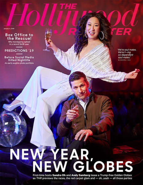 Andy Samberg & Sandra Oh The Hollywood Reporter, 2019
