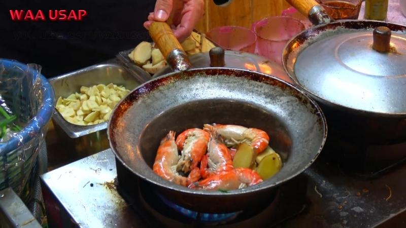 How to make Casseroled Shrimp King Prawns Glass Noodle _ Street Food