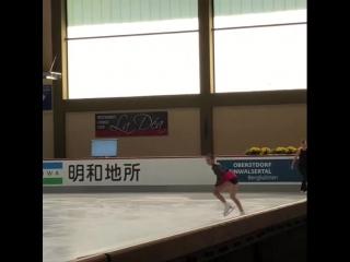 Алина Загитова ПП на тренировке 28/09/18 ISU CS Nebelhorn Trophy 2018