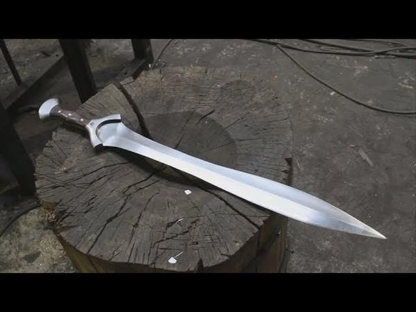Ксифос - оружие спартанских воинов. Ковка меча с изготовлением ножен