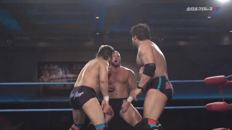 Ryoji Sai, Dylan James (c) vs. Suwama, Shuji Ishikawa (AJPW - Dynamite Series 2018 - Day 11)