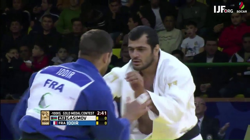 Elmar Gasimov AZE Alexandre Iddir FRA 1 0 100kg JudoTashkent2018 Final
