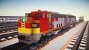 Minecraft Santa Fe EMD F7 Unit Locomotive Tutorial