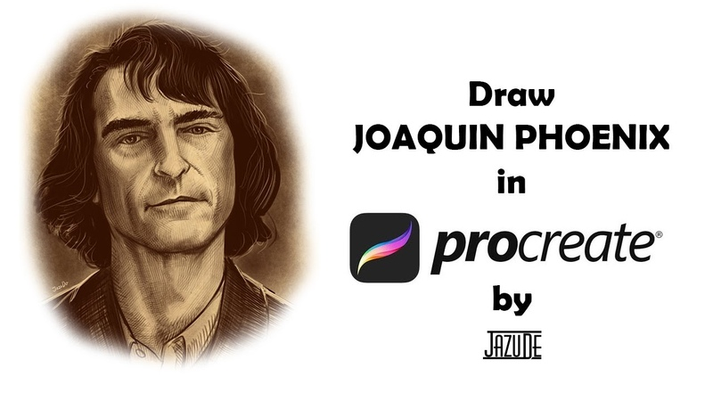 Draw Joaquin Phoenix (Procreate SpeedPaint) by JazuDe