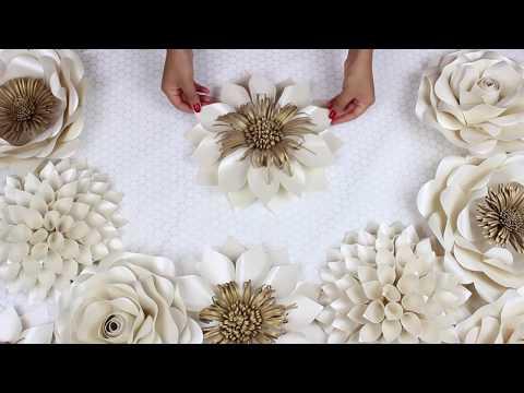 DIY Paper Flower Tutorial | My Wedding Backdrop Flowers | Template 5