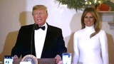 President Trump and the First Lady Melania Trump host the Congressional Ball. White House Grand Fo