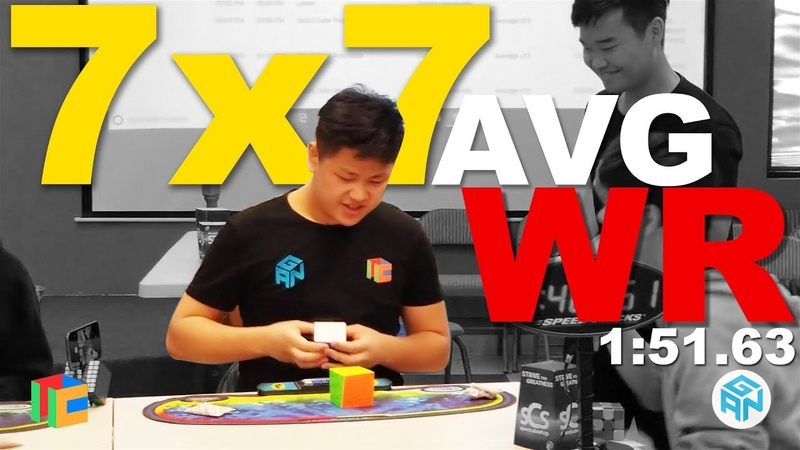 WR 1 51 63 Rubik's Cube 7x7 World Record mean CubeChella 2018