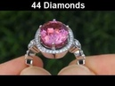 INVESTMENT GRADE GIA Pink Spinel Diamond Cocktail Ring 18K Gold