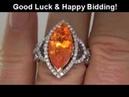 INTERNALLY FLAWLESS Mexican Fire Opal Diamond Ring 18K Gold