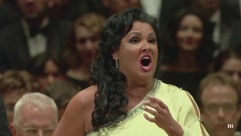 "Richard Tucker Gala 2018 Anna Netrebko Yusif Eyvazov Vicino a te"" Andrea Chenier Giordano"
