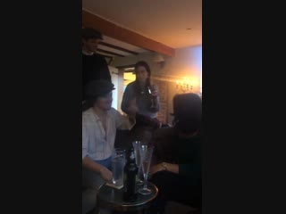 Harry playing a game with family and friends - december 26