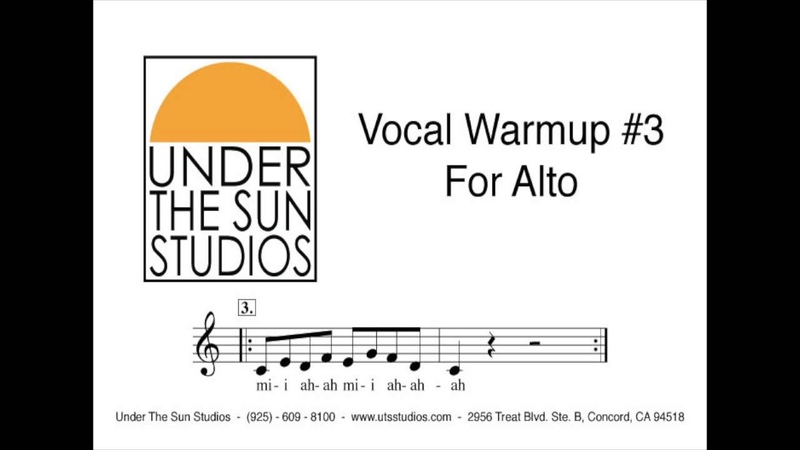Vocal Warmup 3 for Alto