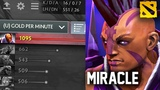 What happens when you let Miracle FREE FARM for 9 minutes with Anti-mage 1100 GPM Gameplay Dota 2