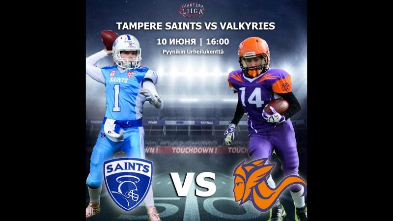Highlights St. Petersburgh Valkyries vs Tampere Saints Naiset 10.06.18(20-14)