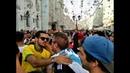 June 22 Brazilian and Argentine fans Nikol'skaya street Fãs brasileiros e argentinos