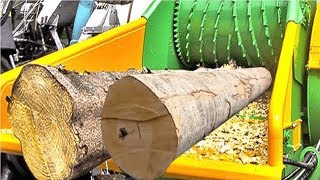 Amazing Biggest Wood Chipper Machines - Extreme Fast Tree Shredder Technology