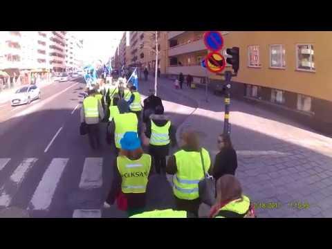 Gula Västarna marscherar Hornstull till Gullmarsplan