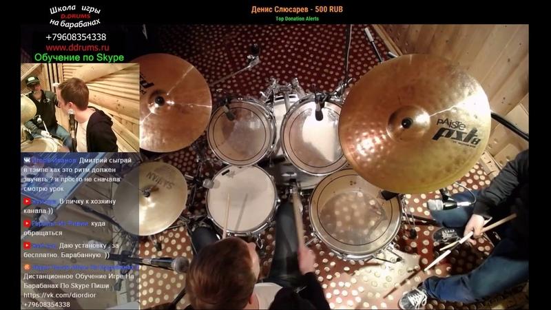Урок ударных | Джазовый Свинг Ритм С Синкопой На Барабанах