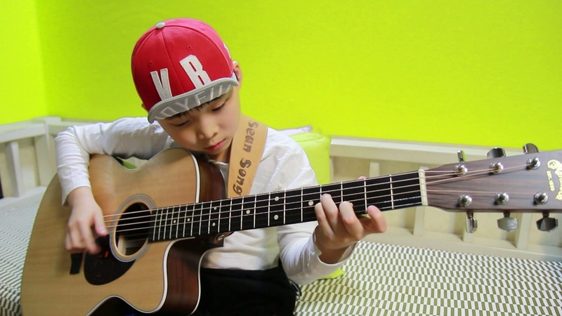 Hotel California (Eagles) fingerstyle guitar arranged cover by 9 year-old kid Sean Song