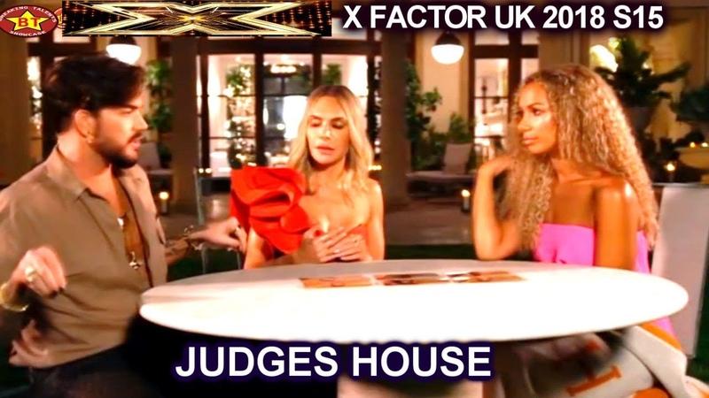 Judges Deliberation Leona Lewis Adam Lambert Ayda Field The Overs | Judges House X Factor UK 2018