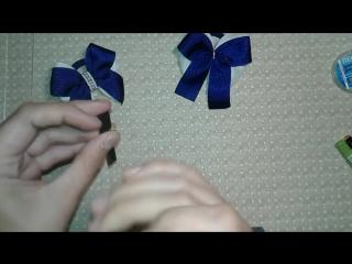 МК Классические бантики серединка из бусин и бисера_DIY Classic bow
