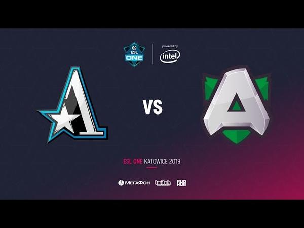 Team Aster vs Alliance, ESL One Katowice 2019, bo2, game 2, [Lum1Sit]