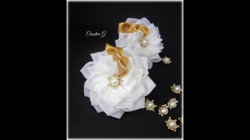 Цветок КАНЗАШИ из ВУАЛИ. МАСТЕР КЛАСС от Creative G
