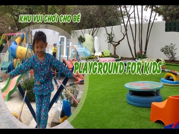 Fun Outdoor Playground for kids Entertainment for Children Play Center BachvanTv Nursery
