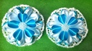 Бантики цветочки с новым лепестком канзаши Сердце из атласных лент. Flower bows a new Kanzashe petal