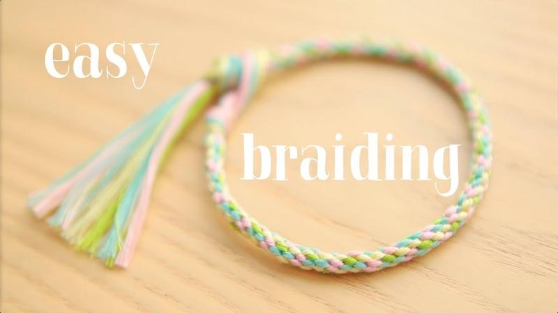 Braiding easy round cord круглое плетение ЛЕГКО!