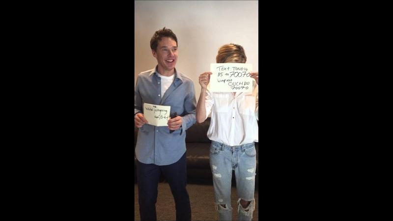 Benedict Cumberbatch EBtonguetwister with Sienna Miller