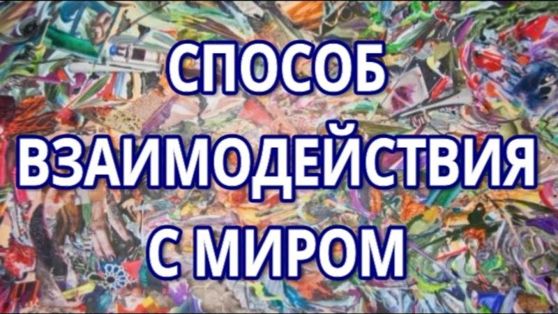1. Вадим Зеланд - Способ взаимодействия с миром