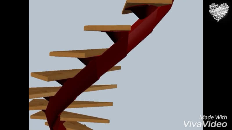 Винтовая металлическая лестница.