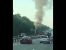 Под Молькино горит военный авто