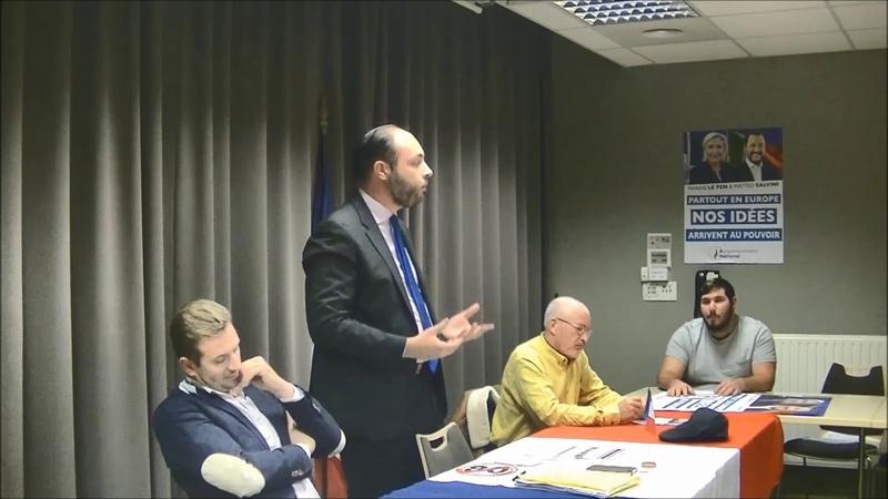 Assemblée militante du Rassemblement national avec Benoist Rouaud Saint Nazaire 08 11 18