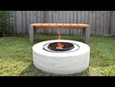 Making A Concrete FIRE PIT | from a washing machine drum