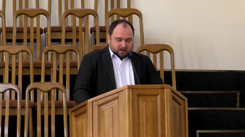 Проповедь (Еф.4.20 - 25) - пастор церкви ЕХБ (Перекрёсток) - Константин Коваленко