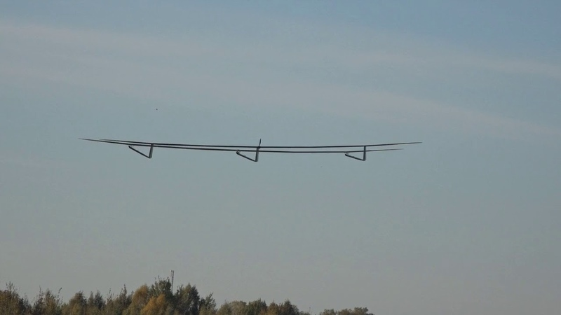 First flight of the 10-meter prototype of the UAVOS HAPS ApusDuo aircraft