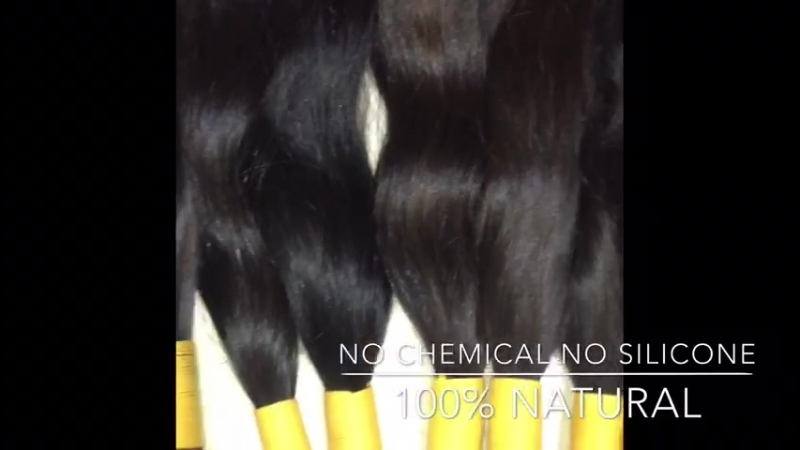 100 natural Indian virgin remy intact cuticle unprocessed temple human hair