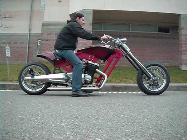 Beelzebub Scratch Built Custom Motorcycle Hydraulic BLZBUB .wmv