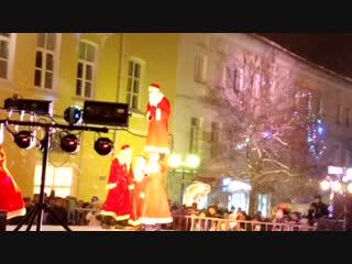 Дед Морозы - трюкачи на фестивале «Новогодние огни древнего города»